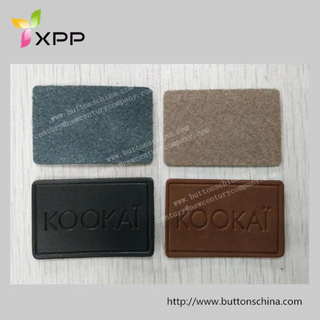Top Quality Genunie Leather Patch with Logo Printed