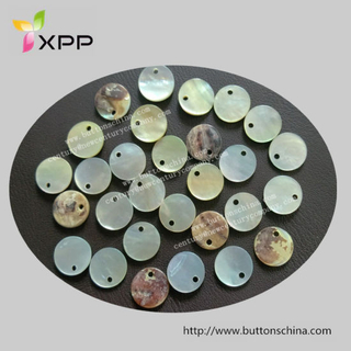 One Hole Round Shape Agoya Shell Button