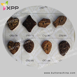 Squar Natural Coconut Shell Button