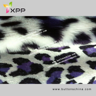 Stretch Fur Fabric Laminated Printing Suede Fabric for Fur Coat