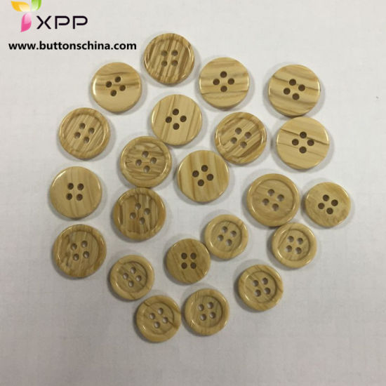 Imitation Wood Button