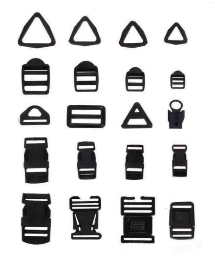 Plastic Black Buckle for Bag (NCBT-9)