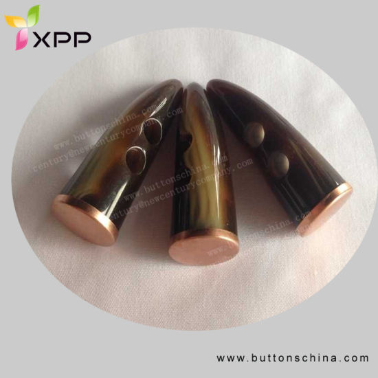 Fashion Plastic Toggle with Metal Cap
