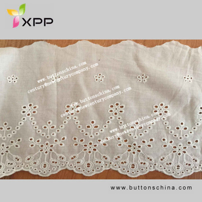 Popular Embroidery Eyelet Lace for Women Garment
