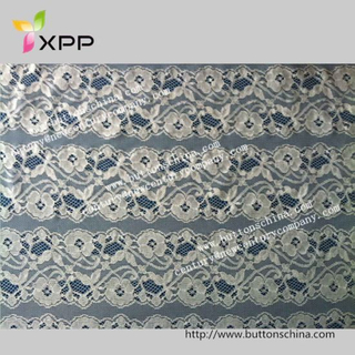 3D Flower French Mesh Fabric for Wedding