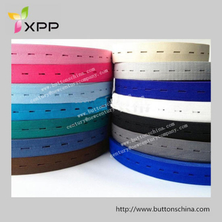 Elastic Tape with Button Hole for Garment Elastomeric Tape
