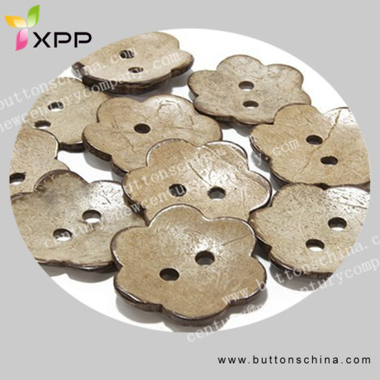 Flower Shape Natural Coconut Shell Button