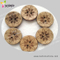 2 H Laser Pattern Coconut Shell Button for Decoration