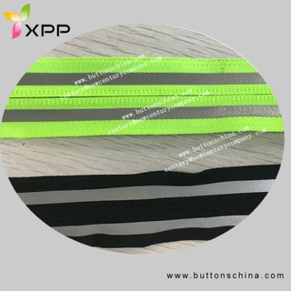 Zipper with Reflective Tape in Metres