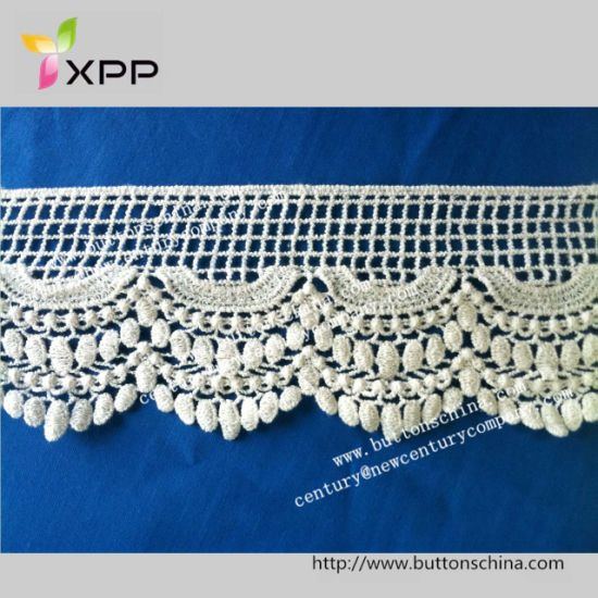 China Products/Suppliers. 100%Cotton Crochet Water Soluble Lace with High Quality for Garments Decoration