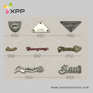 Metal Plated Brand Patch