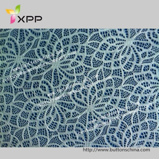 Fashion Beautful Webbing Fabric Lace for Cloth Covering Cotton/Spandex Yarns